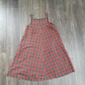 Plaid dress green and red - size small/medium